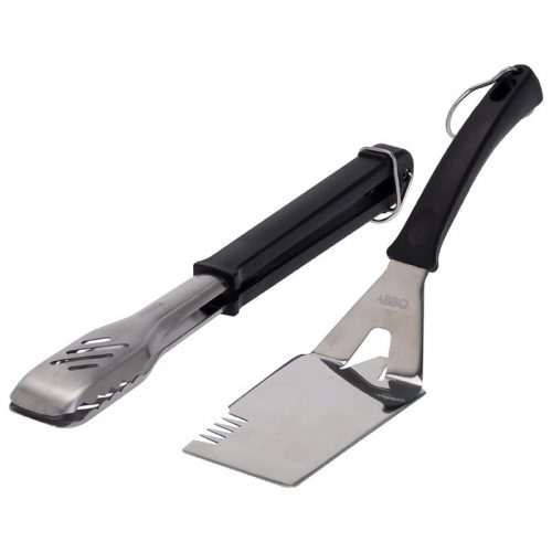 Barbecue kookgerei - RVS - 2 stuks