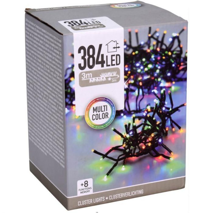 Clusterverlichting - 384 LED - 2.8m - multicolor