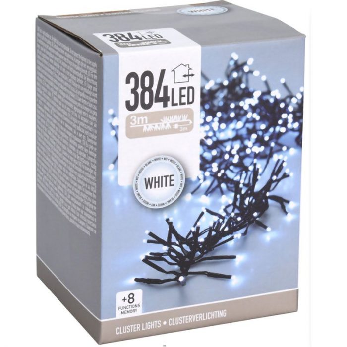 Clusterverlichting - 384 LED - 2.8m - wit