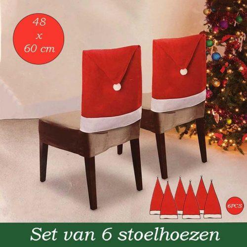 Kerst Stoelhoezen - 6 stuks