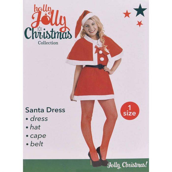 Kerstvrouwpak- 4-delig