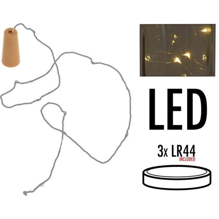 Kurk met 8 LED lampjes