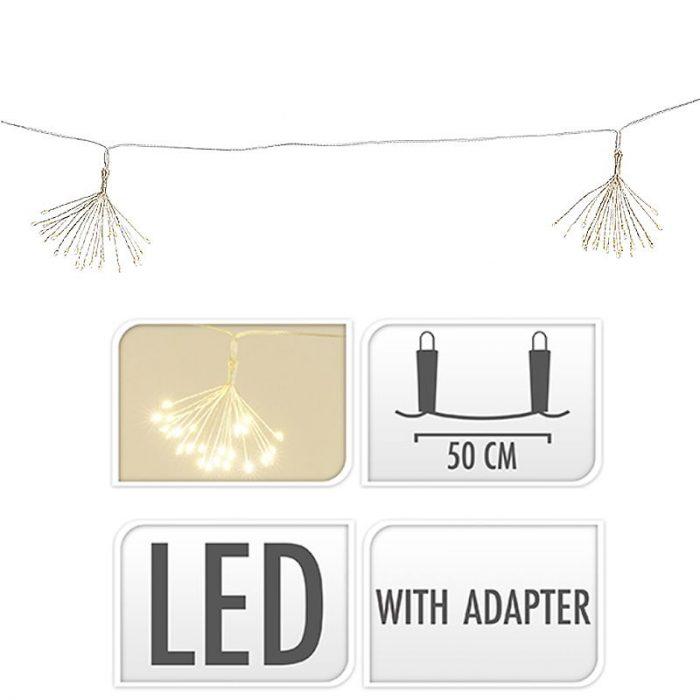 LED Lichtsnoer Fireworks - 6 lichtclusters