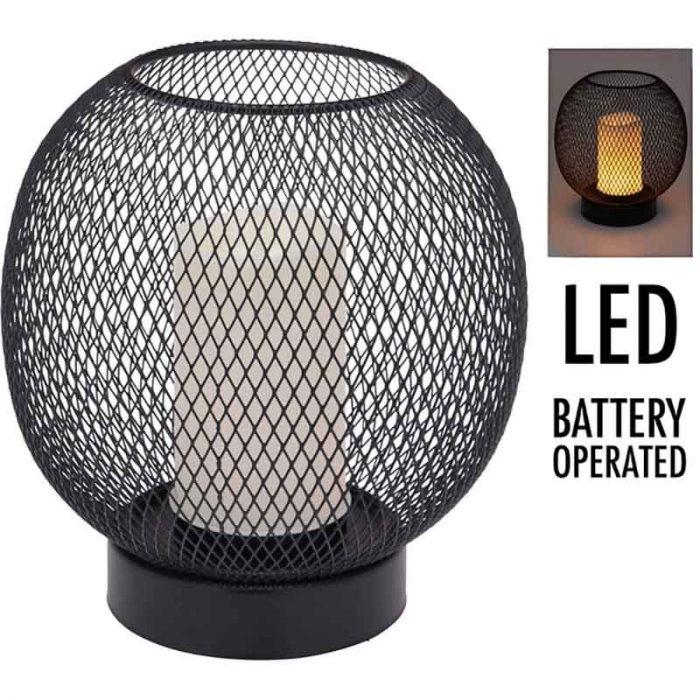 Tafellamp - draad -  19cm - luxe uitvoering