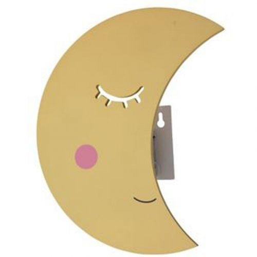 Wandlamp maan - met afstandsbediening