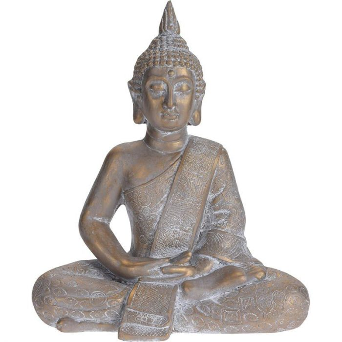 Boeddha zittend - Tuinbeeld - bronskleur - 62.5cm