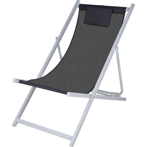 Ligstoel wit-grijs