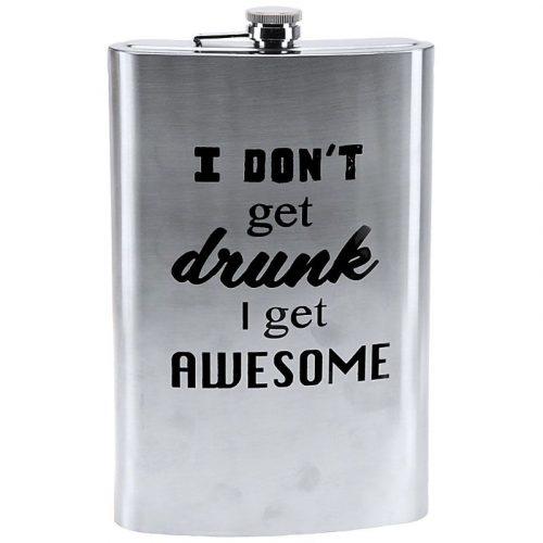 """Mega Heupfles 1.8 liter - """"I don't get drunk"""""""