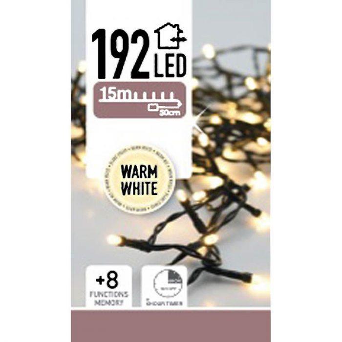 LED-verlichting 192 LED's - warm wit - op batterij