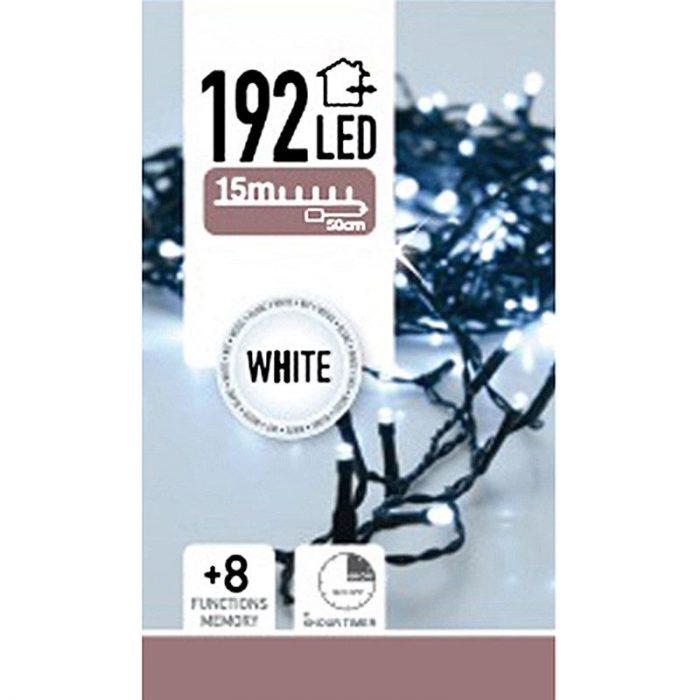 LED-verlichting 192 LED's - wit - op batterij