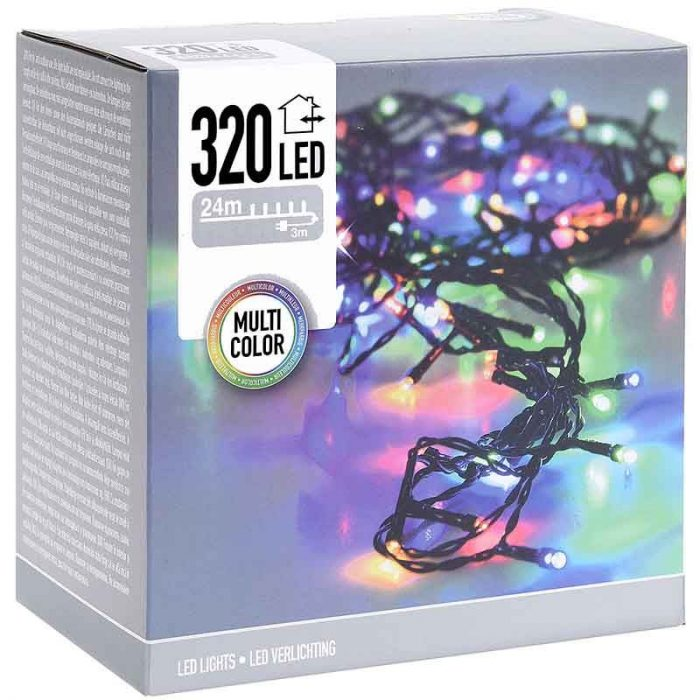 LED-verlichting - 320 LED's - 24 meter - multicolor