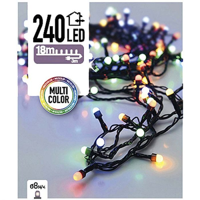 LED-verlichting bolletjes - 240 LED - 18 meter - multicolor