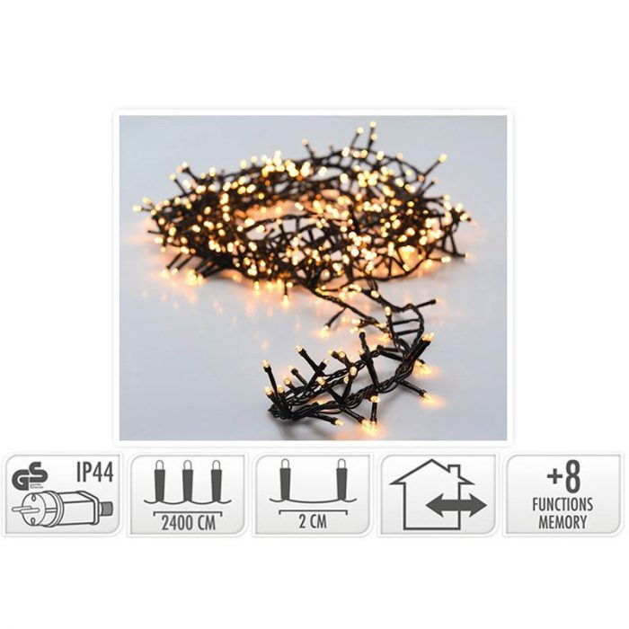 Micro Cluster 1200 LED's - 24 meter - warm wit