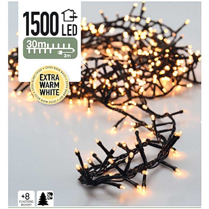 Micro Cluster 1500 LED's 30 meter extra warm wit