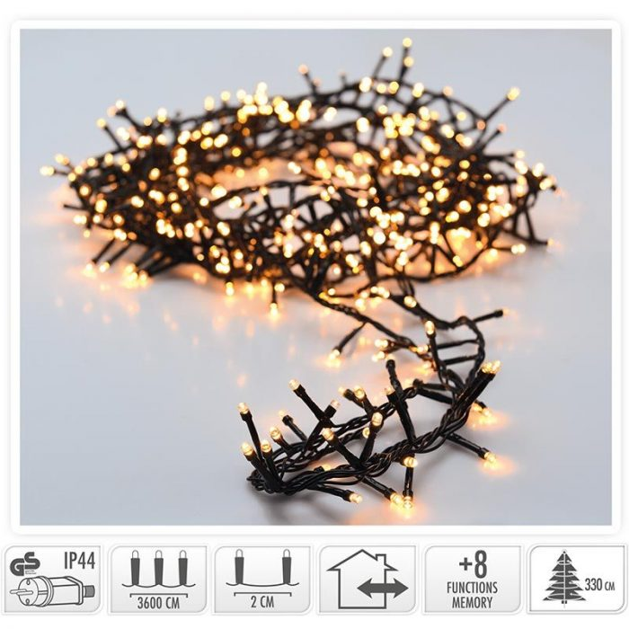 Micro Cluster - 1800 LED - 36 meter - extra warm wit