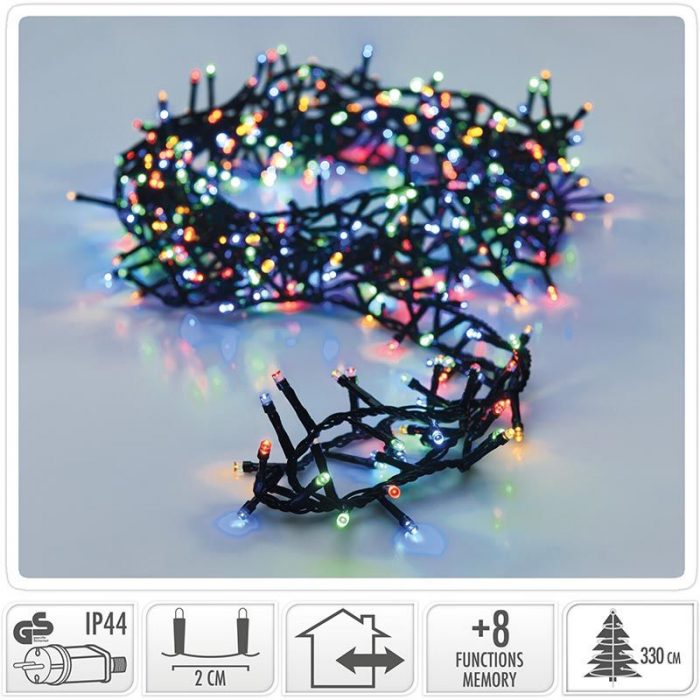 Micro Cluster - 1800 LED's - 36 meter - multicolor