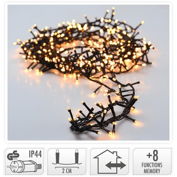 Micro Cluster 1800 LED's - 36 meter - warm wit