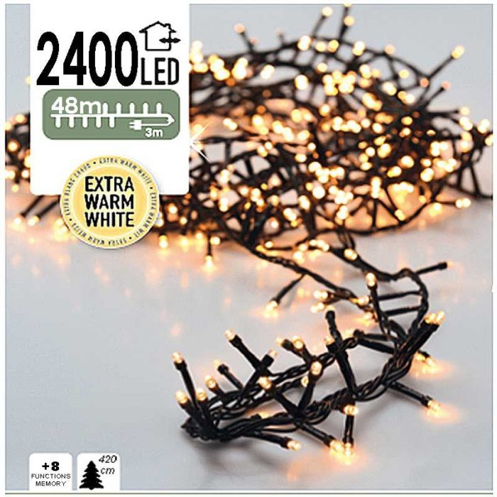 Micro Cluster 2400 LED's 48 meter extra warm wit