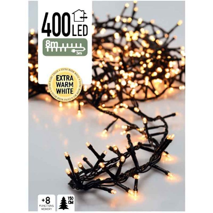 Micro Cluster - 400 LED- 8 meter - extra warm wit