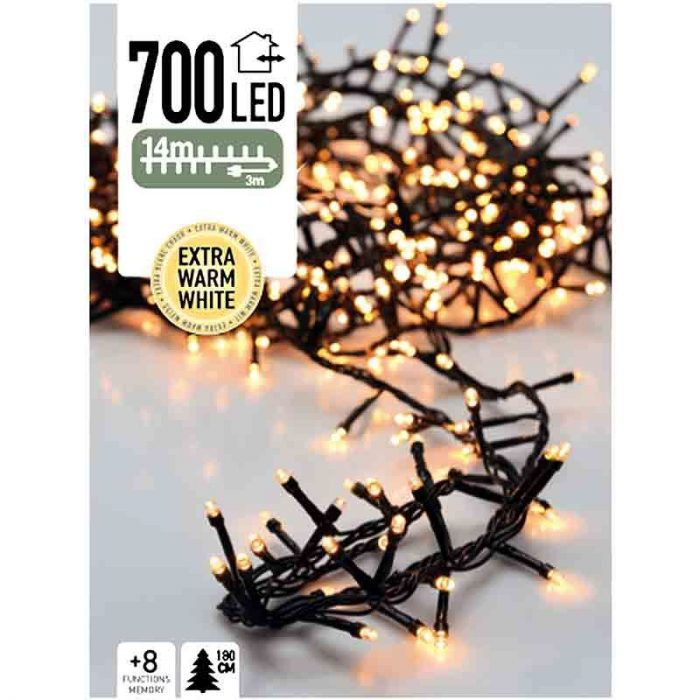 Micro Cluster 700 LED's 14 meter extra warm wit