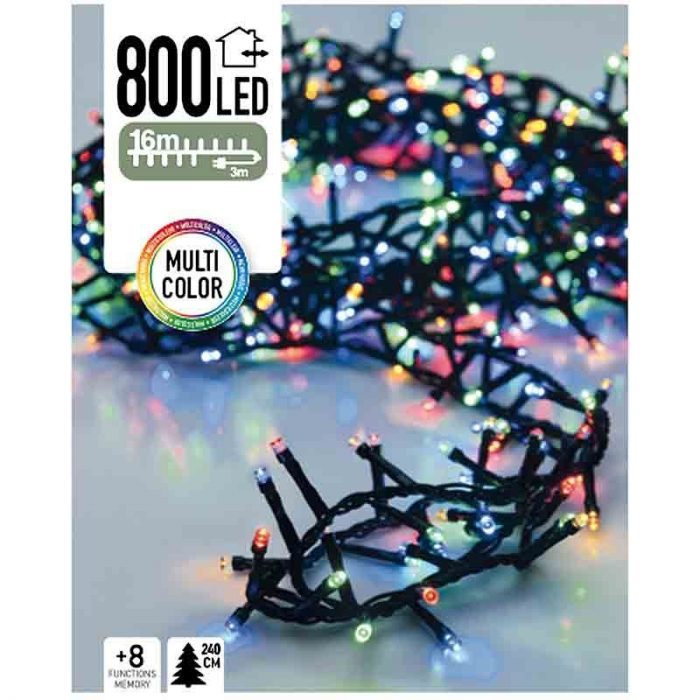 Micro Cluster 800 LED's 16 meter multicolor
