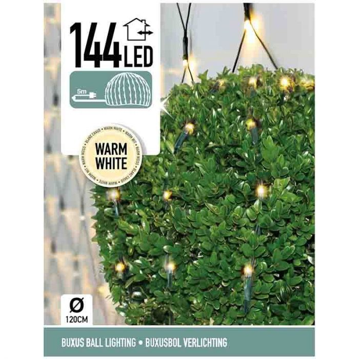 Buxus Netverlichting - 144 LED - warm wit