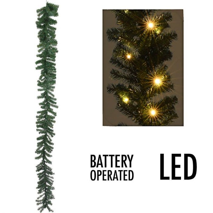Guirlande met 35 LED's - 270 cm - met timer - werkt op batterijen