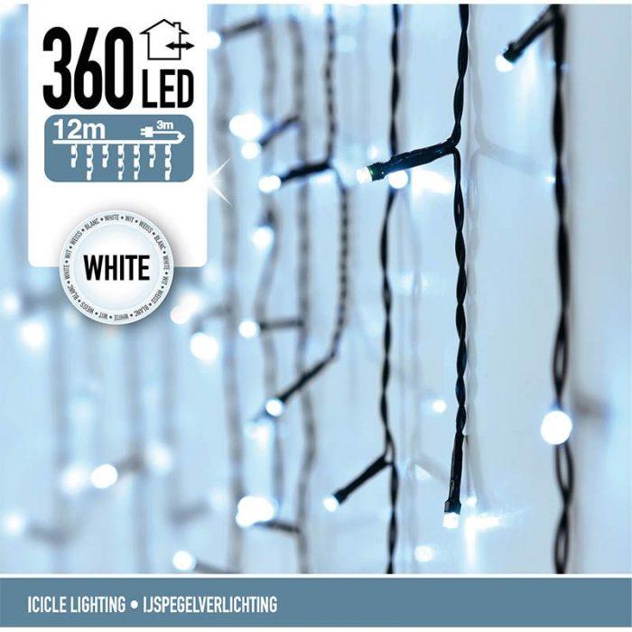 IJspegel verlichting - 360 LED's  -12 meter - wit