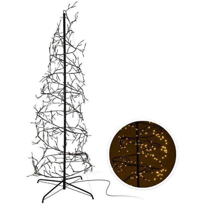 Kerstboom spiraal 150cm - 360 LED - zwart