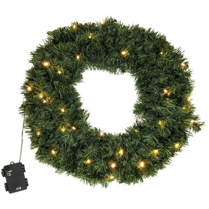 Kerstkrans met LED verlichting 50 cm