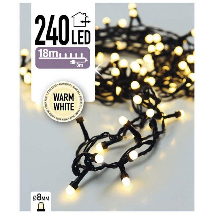 LED-verlichting bolletjes - 240 LED's - 18 meter - warm wit