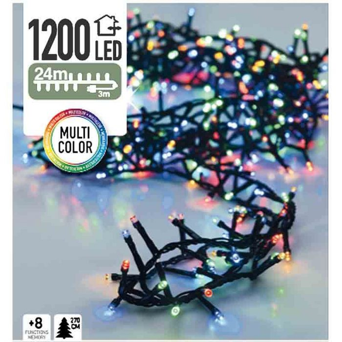 Micro Cluster - 1200 LED - 24 meter - multicolor
