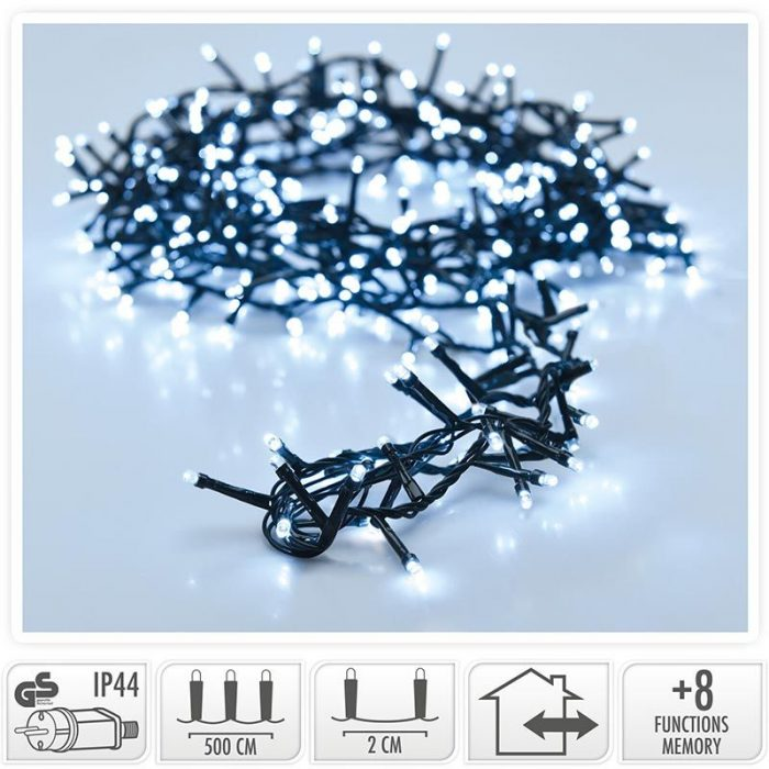 Micro Cluster - 1800 LED's - 36 meter - wit