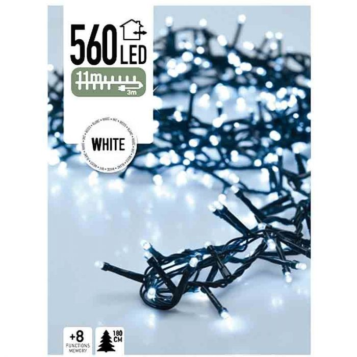 Micro Cluster 560 LED's - 11 meter - wit