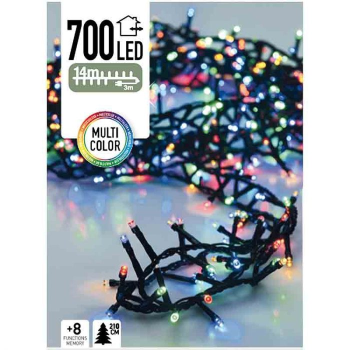 Micro Cluster - 700 LED - 14 meter - multicolor