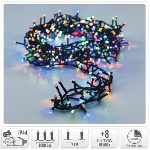 Micro Cluster met Haspel - 500 LED - 10 meter - met timer - multicolor