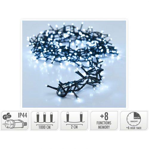 Micro Cluster met Haspel - 500 LED - 10 meter - met timer - wit