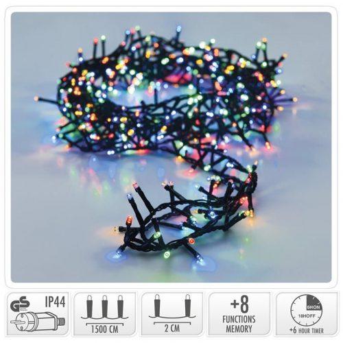 Micro Cluster met Haspel - 750 LED - 15 meter - met timer - multicolor