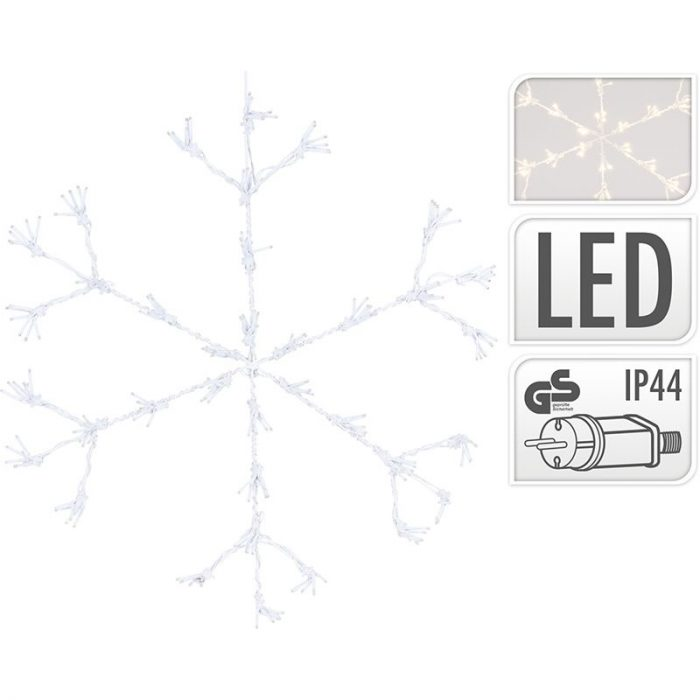 Sneeuwvlok 216LED - 60cm - Warm Wit