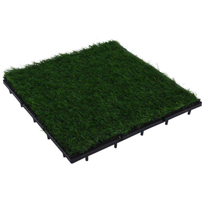 Terrastegels kunstgras - set van 9 - 30x30