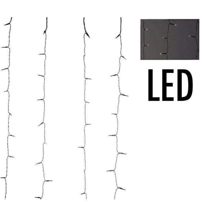 Gordijnverlichting met watervaleffect - 220LED -  200x100cm - warm wit