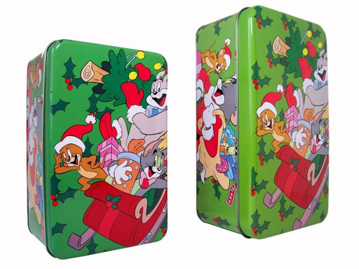 Kerstblikken Tom & Jerry - 2 stuks