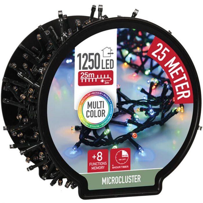 Micro Cluster met Haspel - 1250 LED - 25 meter - met timer - multicolor